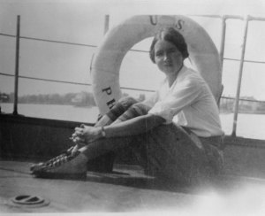 Rachel Carson at Woods Hole in 1929, where she studied marine life.